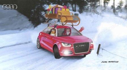 Audi-saonice Djeda Božićnjaka