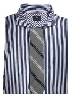 Kako kombinirati košulju s izraženim prugama i kravatu