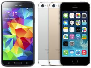 Usporedba iPhone 5S i  Galaxy S5_1
