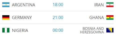 Raspored utakmica na Svjetskom nogometnom prvenstvu-10