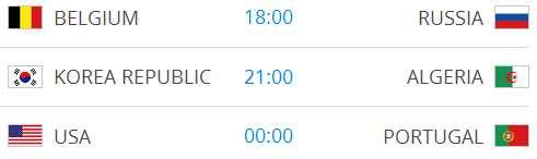 Raspored utakmica na Svjetskom nogometnom prvenstvu-11
