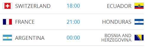 Raspored utakmica na Svjetskom nogometnom prvenstvu-4