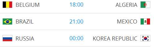 Raspored utakmica na Svjetskom nogometnom prvenstvu-6
