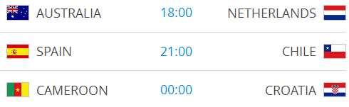 Raspored utakmica na Svjetskom nogometnom prvenstvu-7