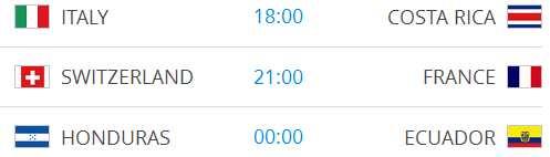 Raspored utakmica na Svjetskom nogometnom prvenstvu-9
