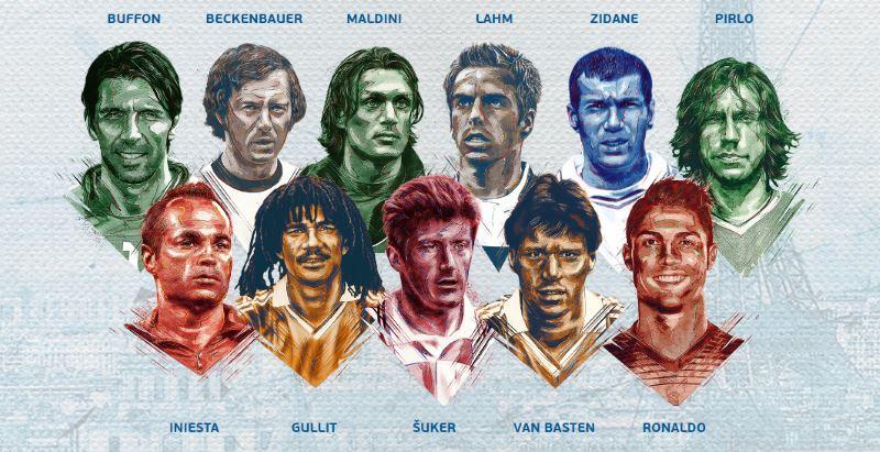Najbolji igrači na Europskim nogometnim prvenstvima svih vremena