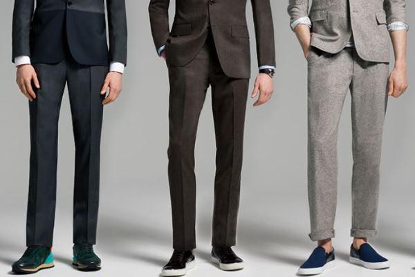 Kako nositi tenisice na odijelo