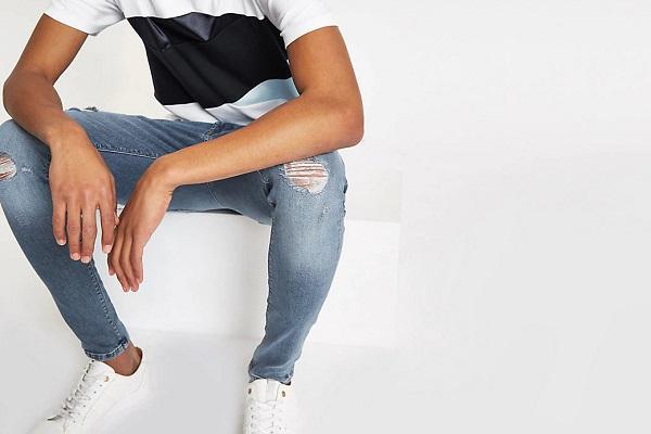 Moderna jeans odjeća za muškarce