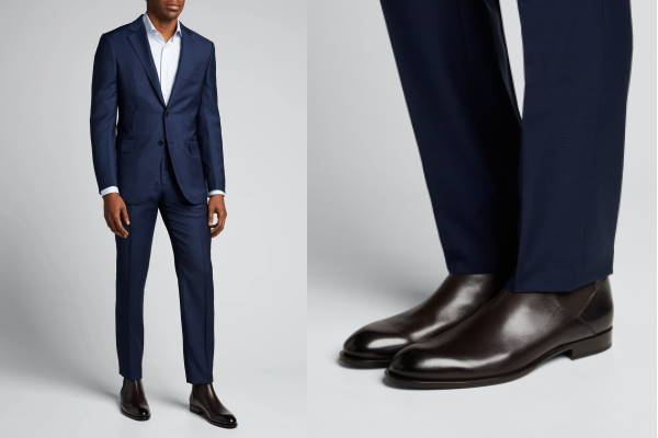 Moderne muške čizme za odijela