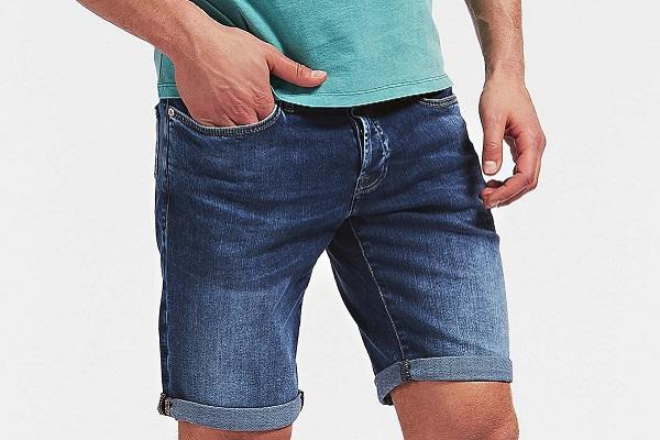 Moderne muške kratke traper hlače